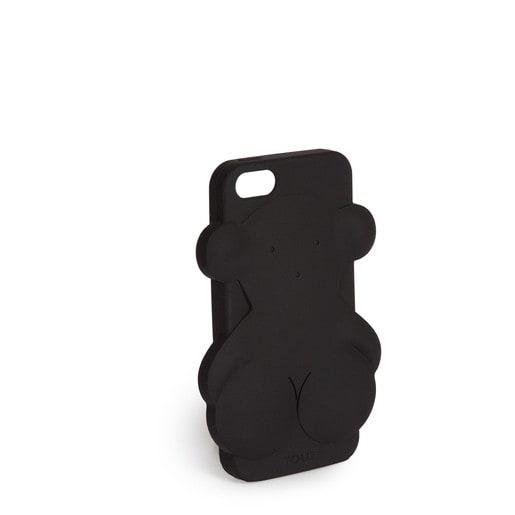 Funda de móvil iPhone 5 Rubber Bear en color negro