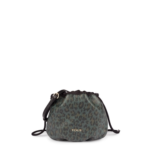 Mini leather green Bridgy Exotic bucket bag