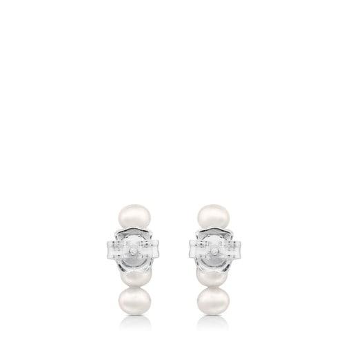 Boucles d'oreilles Straight en Argent