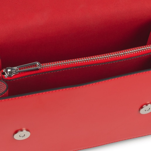Small red Audree Crossbody bag