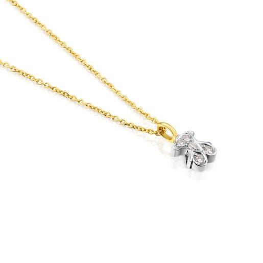 Collar TOUS Puppies de Oro blanco y Diamantes