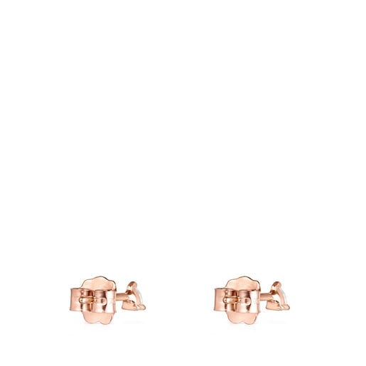 Light Earrings in Rose Gold with Diamonds