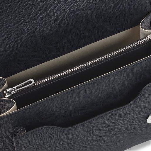 Medium navy blue Audree T POP crossbody bag