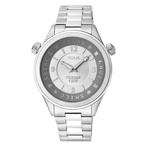 Steel Tender Time Watch with rotating bevel