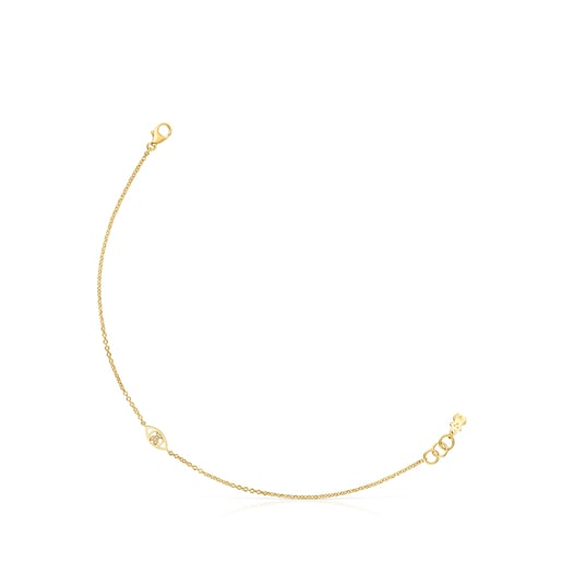 Gold TOUS Good Vibes eye Bracelet with Diamonds