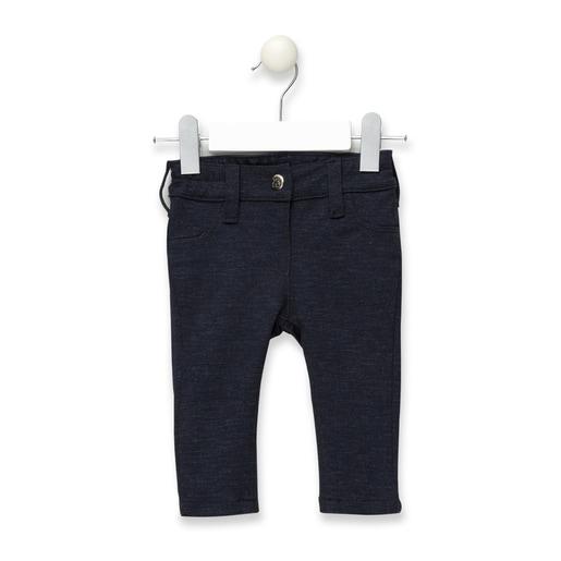 Calças skinny malha de menina Pant Azuis Marinhas