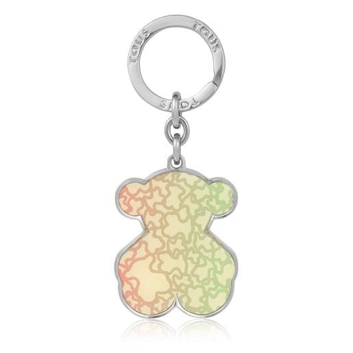 White Kaos Mini Degradé Multi Bear Key Ring