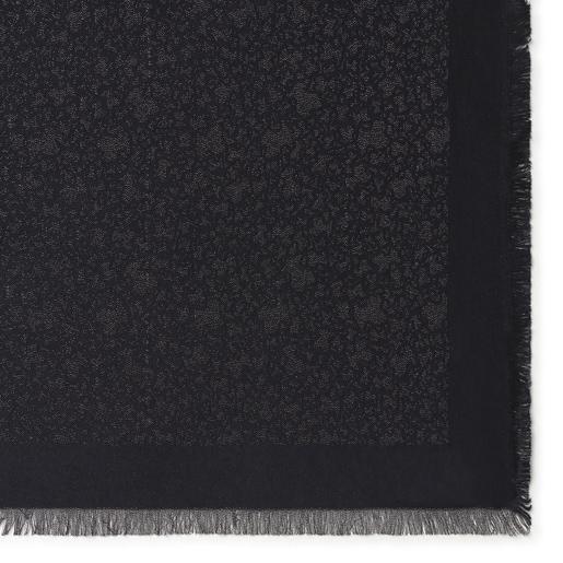 Black jacquard Kaos Mini Scarf