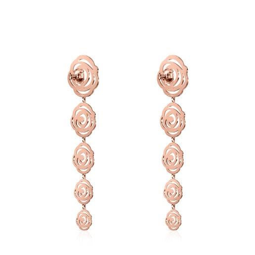 Long rose Vermeil Silver Rosa de Abril Earrings