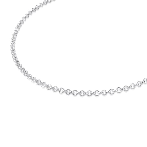 Silver TOUS Chain Choker with balls 40cm.