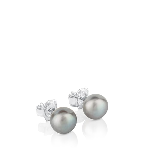 Silver TOUS Pearl Earrings with Pearl