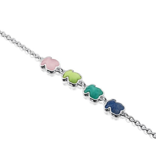 Silver New Color Bracelet with Gems