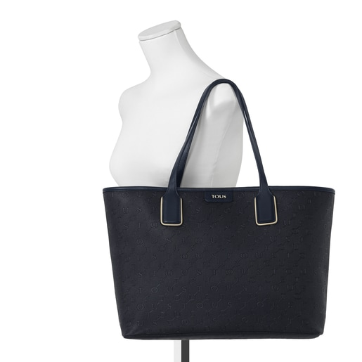Large navy blue Script Day Tote bag