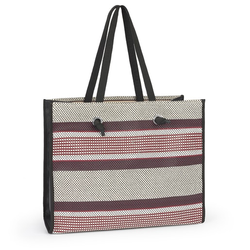 Large Woven Tweed Amaya Shopping Bag