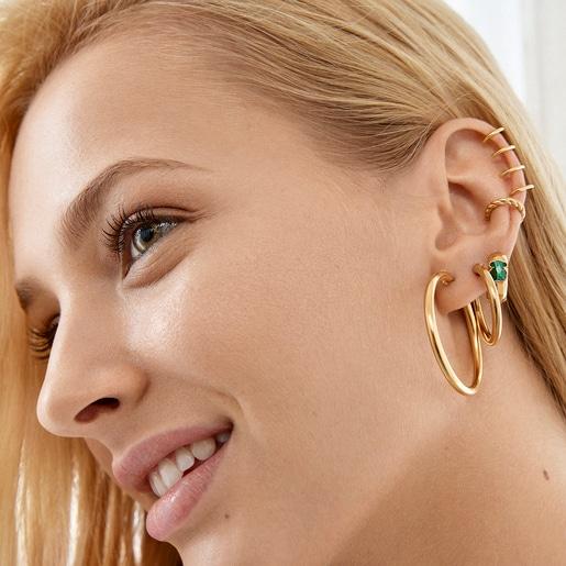 Boucles d'oreilles TOUS Basics petites en Or Vermeil