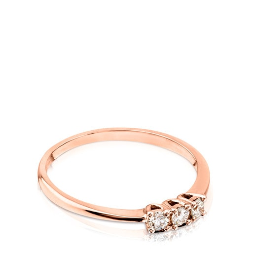 Anillo TOUS Brillants de Oro rosa con Diamantes
