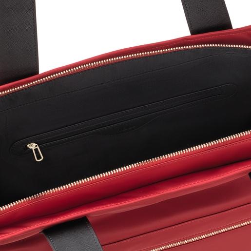 Μεγάλη κόκκινη τσάντα Tote Shelby