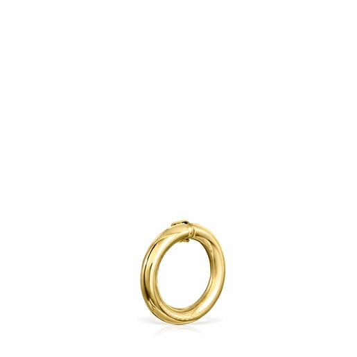 Small Vermeil Silver Hold Ring