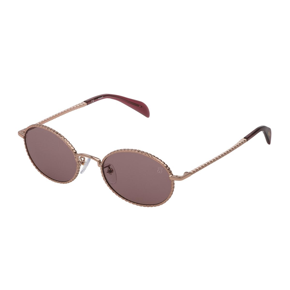 Óculos de sol Urso Straight em Metal na cor rosa