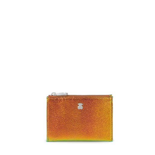 Iridescent Orange Dorp Change Purse-Cardholder