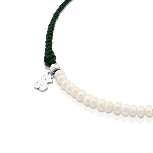 Silver TOUS Color Bracelet with pearls
