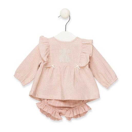 Conjunto blusa y pololo Dusty Chic Rosa
