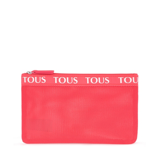 Medium Fluorescent Pink T Colors Toiletry Bag