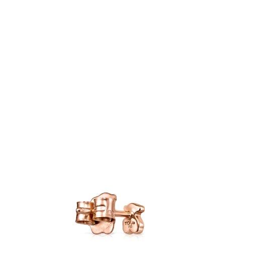 Arete Les Classiques oso de Oro rosa con Diamantes