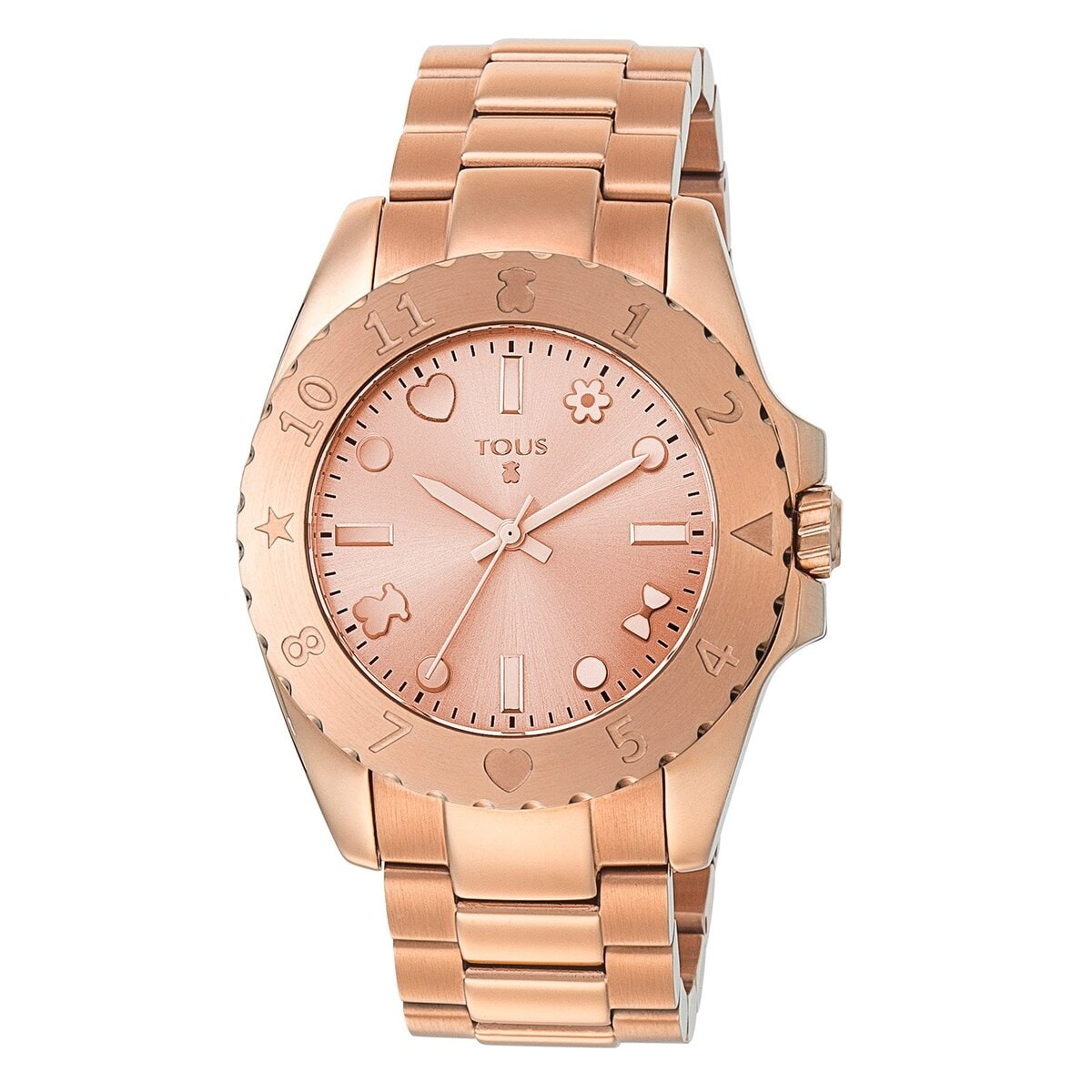 Pink IP Steel Motif Watch