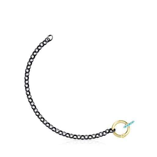 Dark Silver Hold Bracelet with rings