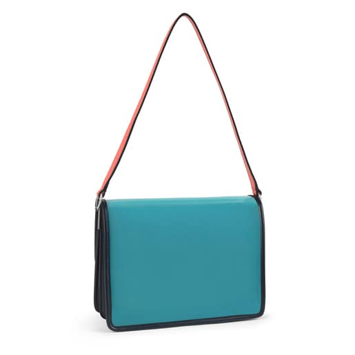 Medium transparent blue Audree Crossbody bag