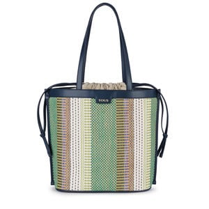 9000ff272 Tote bag média Fionata azul-marinho-multi