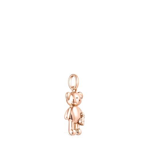Rose Silver Vermeil Teddy Bear bear Pendant