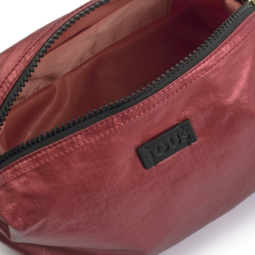 Large pink Pleat Up toiletry bag