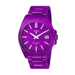 Lilac anodized Aluminum Drive Watch