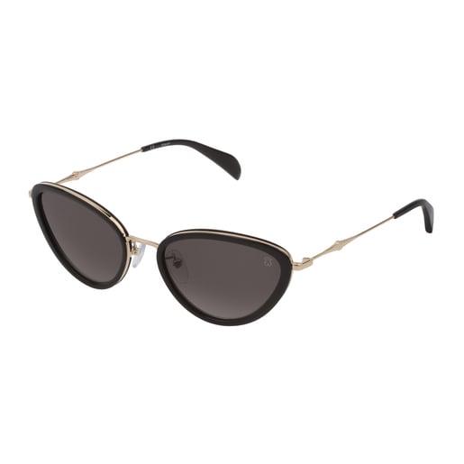 Γυαλιά Ηλίου Metal Bear από Μαύρο Μέταλλο και Acetate