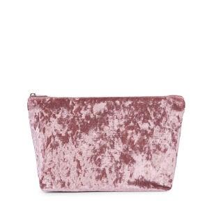 Bolsa mediana Kaos Shock de Terciopelo rosa