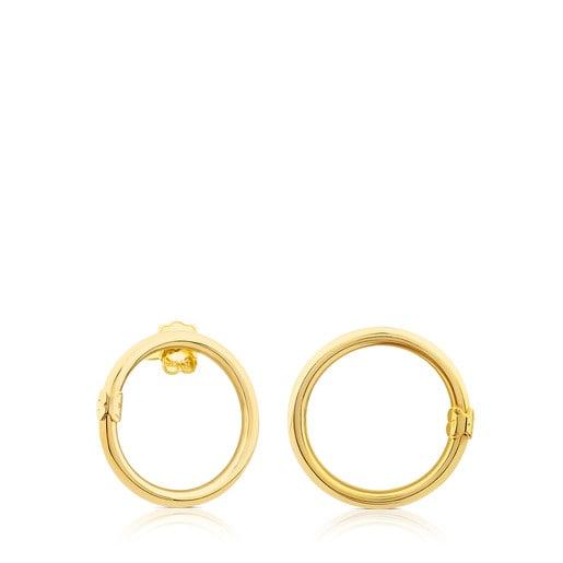 Große Ohrringe Hold aus Vermeil-Silber