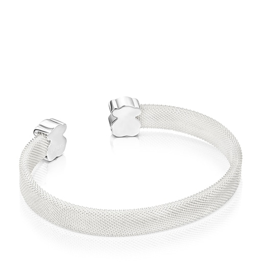 Armband Mesh Color aus Silber mit Amazonit