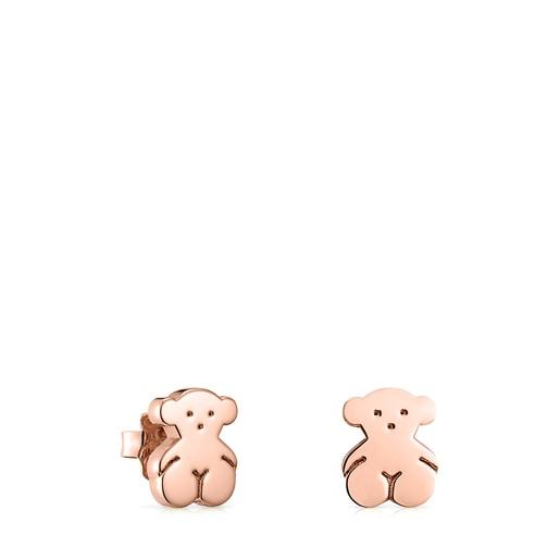 Rose Silver Vermeil Sweet Dolls bear Earrings
