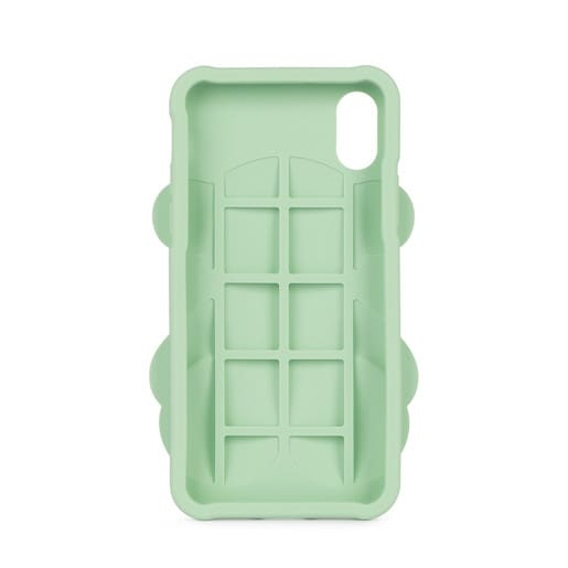 Funda de móvil iPhone X Rubber Bear en color verde