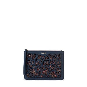 Navy blue Kaos Shock Clutch bag