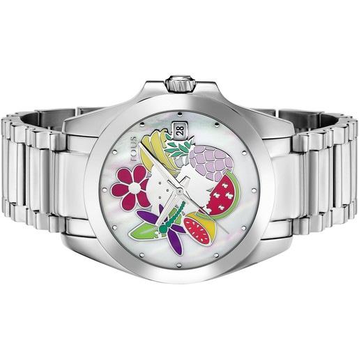 Reloj Miranda de acero con nácar