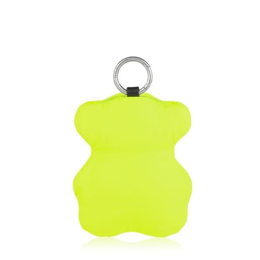 Sac shopping Salsi ourson pliable noir et jaune