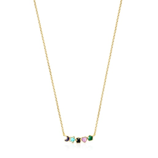 Glory Necklace in Silver Vermeil with Gemstones