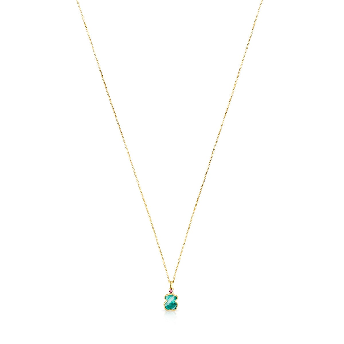 7ec7c1a8c83 Gold TOUS Color Necklace with Amazonite and Ruby - Tous Site US