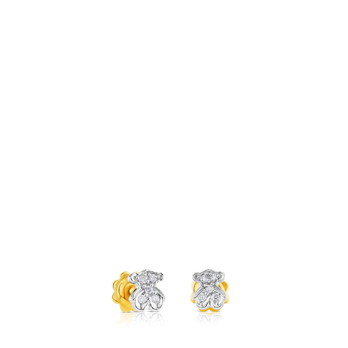 White Gold Puppies Earrings with Diamond