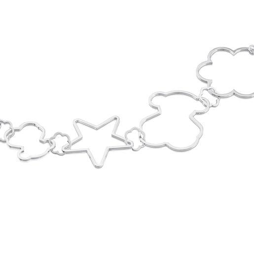 Silver New Silueta Necklace