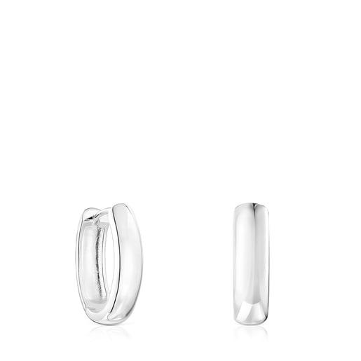 Brincos TOUS Basics oval em Prata