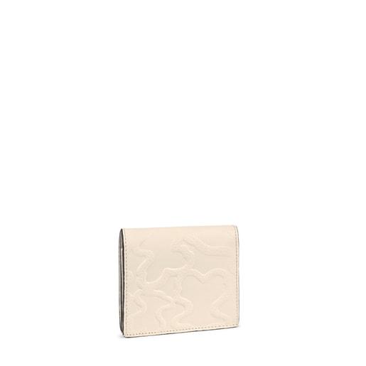 Bitlletera mini TOUS Icon de pell beix